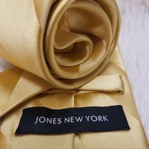 Jones New York Yellow Men's Tie 100% Silk (A187)